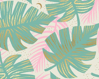 """1/2 Yard Florida - Shade Palms Water Ruby Star Society for Moda - Cotton 100% 42"""" Wide"""