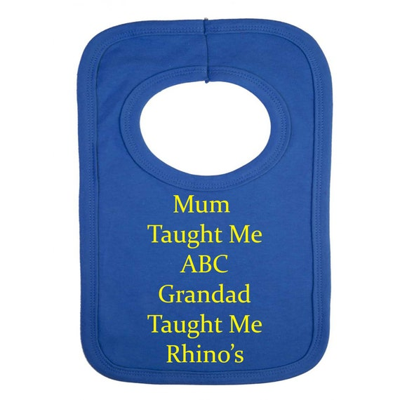 Me and My Daddy Love Leeds Rhinos Personalised Baby Bib for Boys /& Girls