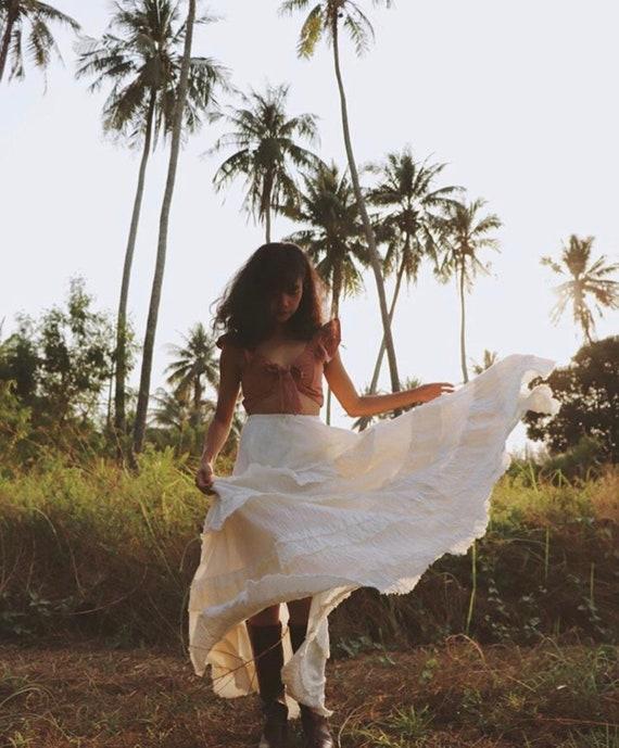 81dba11b55 White Swan Boho Maxi Skirts in soft cotton floaty fabrics /   Etsy