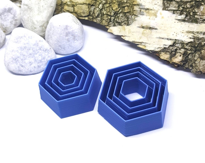 Hexagon shape tools Polymer Clay Cutter