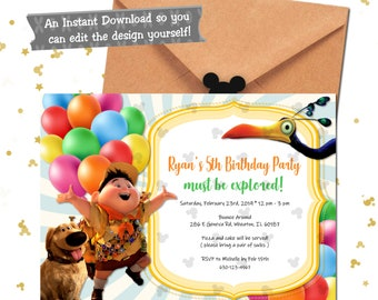 Disney Up Invitation