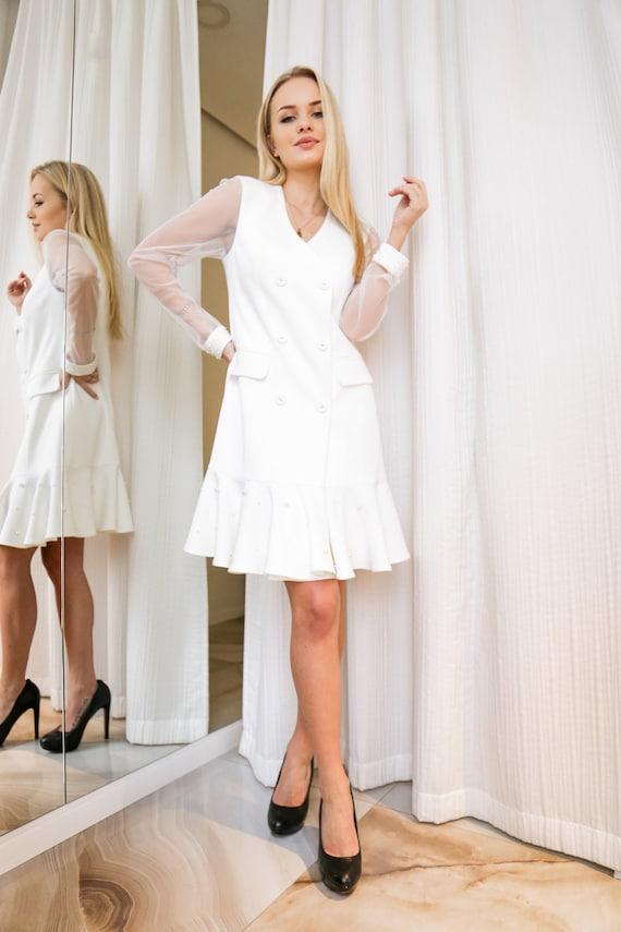 White Dress Simple Wedding Dress Dress