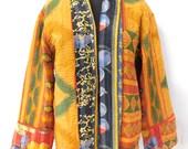 Indian Cotton Kantha Vintage Quilted Jacket Reversible Fashionable Ethnic Plus Size jacket Boho Coat