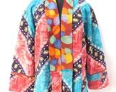 Women Cotton Kantha Vintage Quilted Jacket Reversible Fashionable Ethnic Plus Size jacket