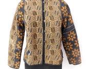 Women Cotton Kantha Vintage Quilted Reversible Jacket Women Short Designer Hippie Jacket Coat