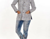 Women Cotton Floral Printed Indian Sexy Fashionable Jacket Block Printed Quilted Jacket