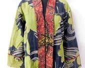 Indian Cotton Kantha Vintage Plus Size Jacket Hippie Boho Quilted Long jacket Fashionable Coat Free shipping