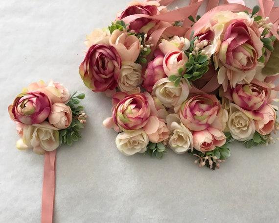 Handgelenk Corsage für die Braut und Brautjungfern