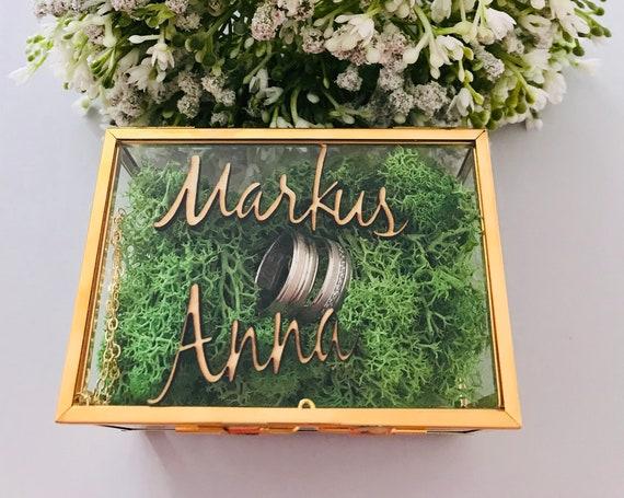 personalisierte Ringbox aus Glas