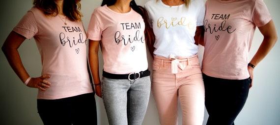 T-Shirts Junggesellinnenabschied Team Bride & Bride