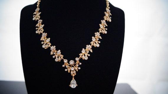 Brautschmuck gold + Ohrringe