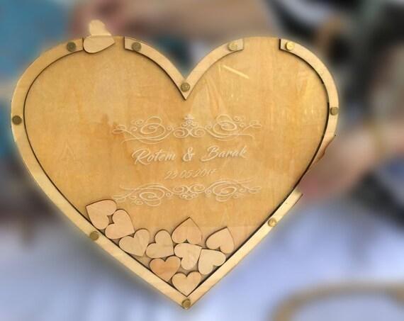 personalisiertes Gästebuch - Herz