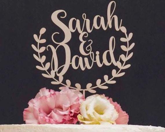 personalisierte Hochzeitstorten Topper