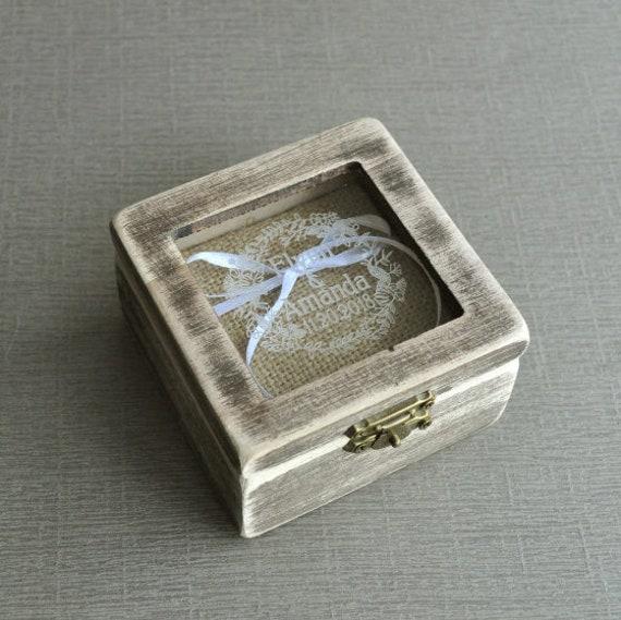 personalisierte Ringbox Holz