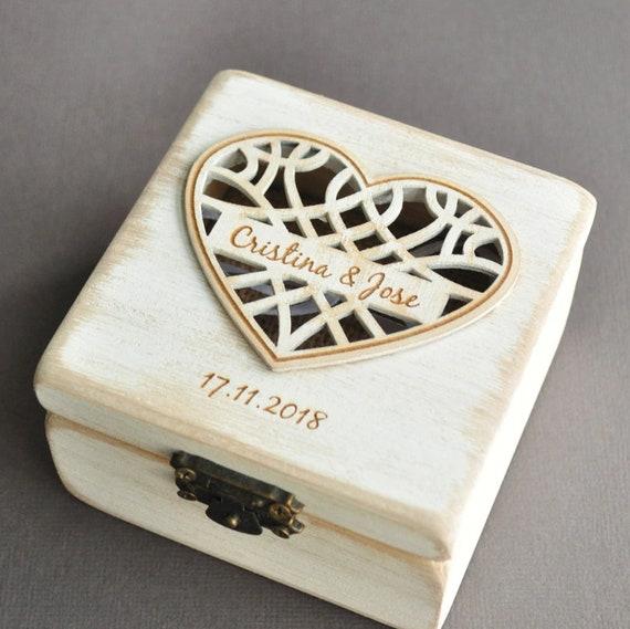 personalisierte Ringbox - Herz
