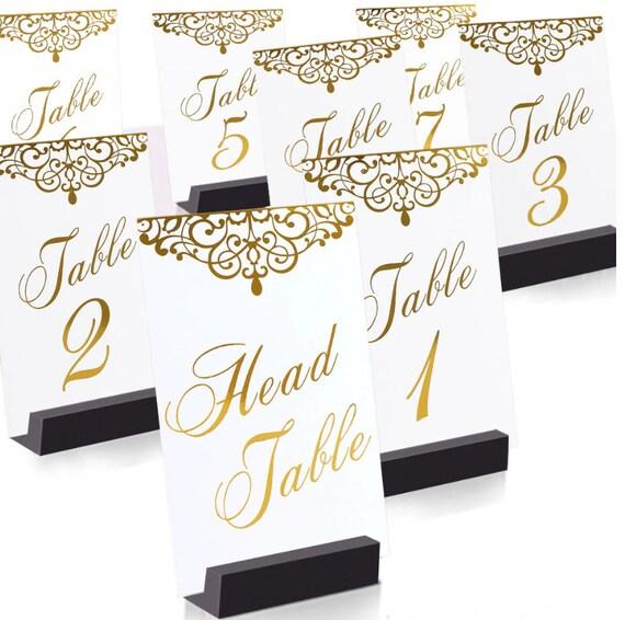 Tischnummern Hochzeit 1-25 + Head Table