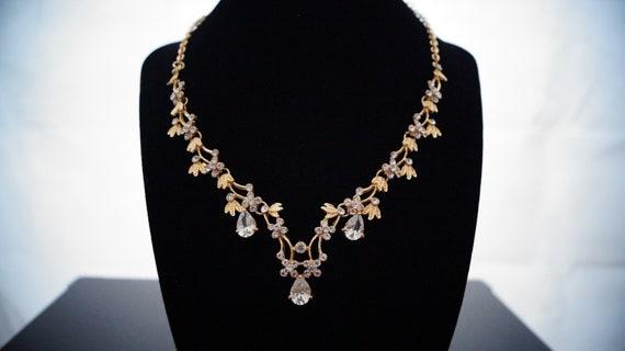 Halskette + Ohrringe gold
