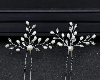 Hairpin Bride, Hair Clip Silver, Hair Clip Wedding, Headdress Silver Bride, Bridal Comb Silver, Bridal Headdress Wedding, Hair Comb Set