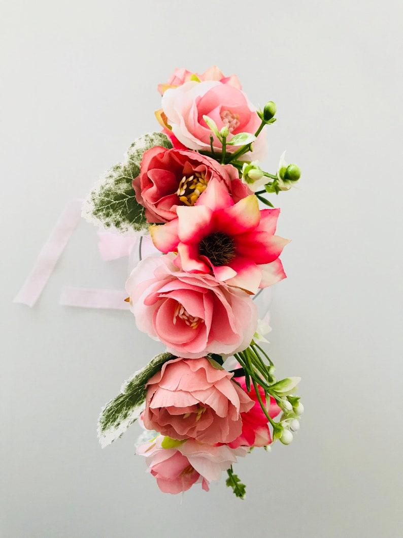 wedding flower wreath bridal floral jewelry boho headpiece bridal hair wreath Flower wreath hair vintage bridal hair wreath hair wreath flowers