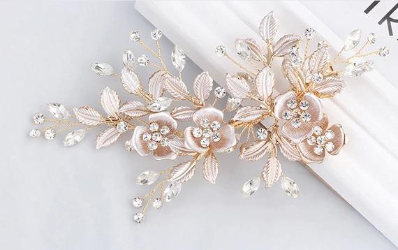 Hair comb bridal, hair accessories silver, wedding hair accessories, headpiece rosegold bridal, bridal comb rose gold, bridal headpiece wedding beads