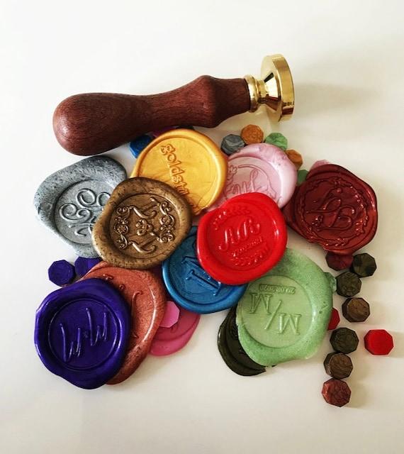 Mini Siegelwachs-Pillen in verschiedenen Farben