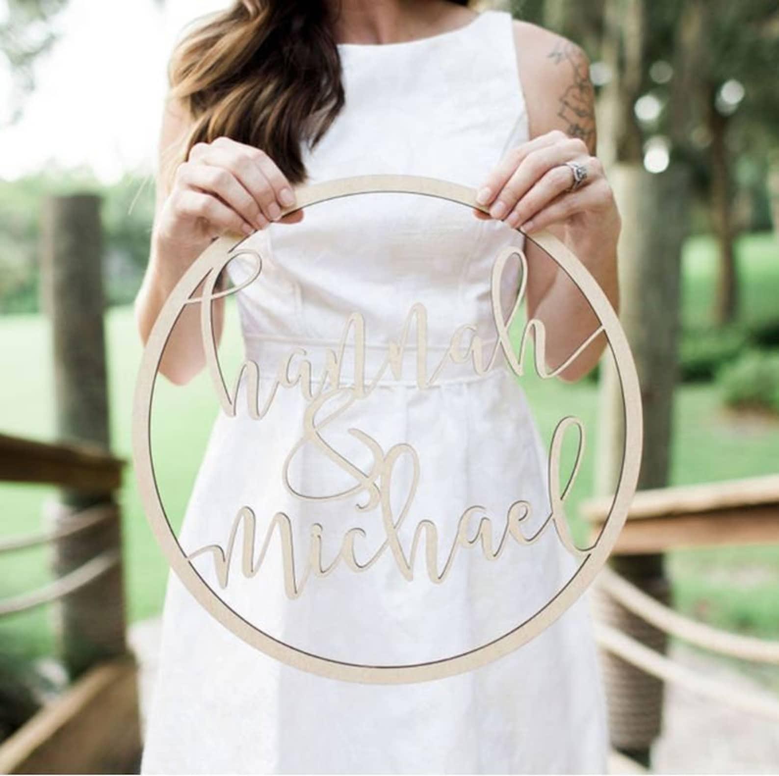 Hochzeitsdeko personalisiert