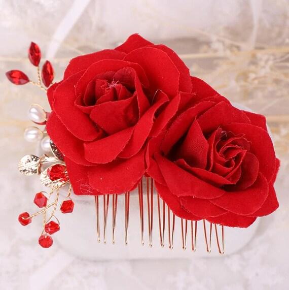 Haarkamm mit Rosen