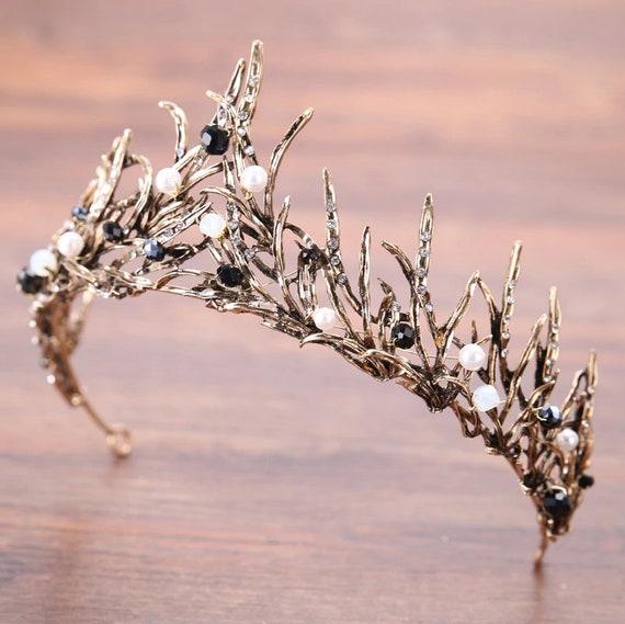Headpiece bridal wedding, tiara flowers wedding, headpiece wedding flowers, crystal crown, brown crystal tiara, bridal tiara brown