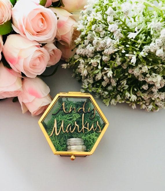 kleine Ringbox aus Glas personalisiert