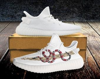 9b6f2e8a7a Coral Snake Infinity Logo Script 350v2 Custom Unisex Running Shoes - Custom  shoe