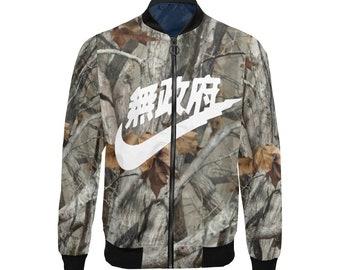 online store 5cb0f 28b81 Realtree Camouflage Air Tokyo Swooosh White Custom Lightweight Bomber Jacket,  Bomber Jacket, Jacket for him, Unisex Jacket, Streetwear