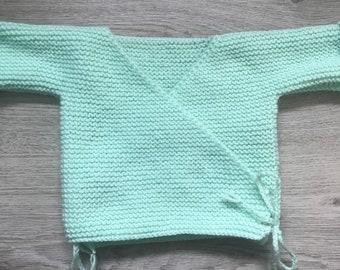 Baby bra / heart cover handmade green twig 0/3 months