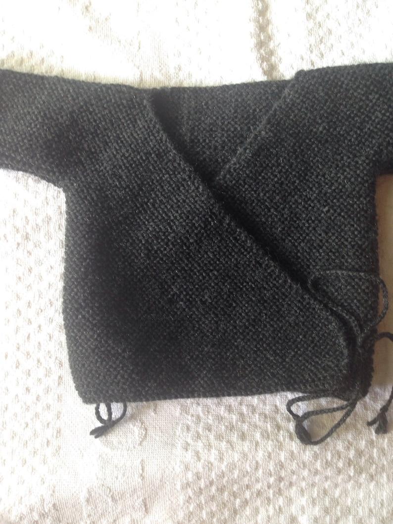 Baby brassi\u00e8re handmade charcoal grey 3 months