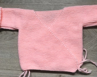Handmade baby bra / wool heart cover 0-3 months
