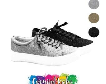 Black Glitter Shoes Women/'s Custom Black Glitter with Black Shimmer Bottoms **Free U.S Shipping** JCo.Custom Sneakers