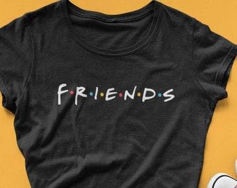 2041244e Friends Logo t-shirt for women, Friends Tv show shirt, gift for best friends,  Friends merch