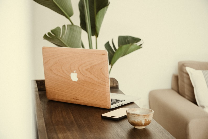 Macbook Wood Cover/Skin  Cherry image 0
