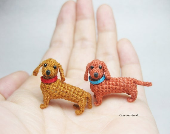 Crochet Amigurumi Animal Dachshund Puppy Dog.Handmade in Cornwall,Custom Made to Order.100/% Cotton.NOT A TOY.Choose from 51 Colours.