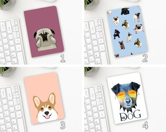 Dog Faces Passport Holder Fabric Personalized
