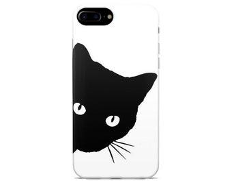 b0733b1a8ef218 Cat iPhone case X XR XS Max 8 7 plus 6 6s 5 5s se s ten 10 cover for mobile  plastic silicone art gift Cat black mustache