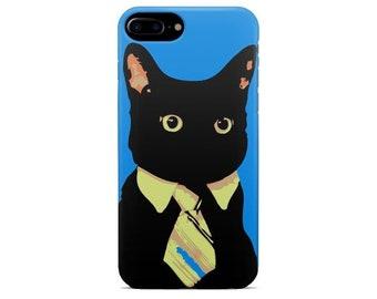 ad9e713a1941b3 Cat iPhone case X XR XS Max 8 7 plus 6 6s 5 5s se s ten 10 cover for mobile  plastic silicone art gift Cat Mister black