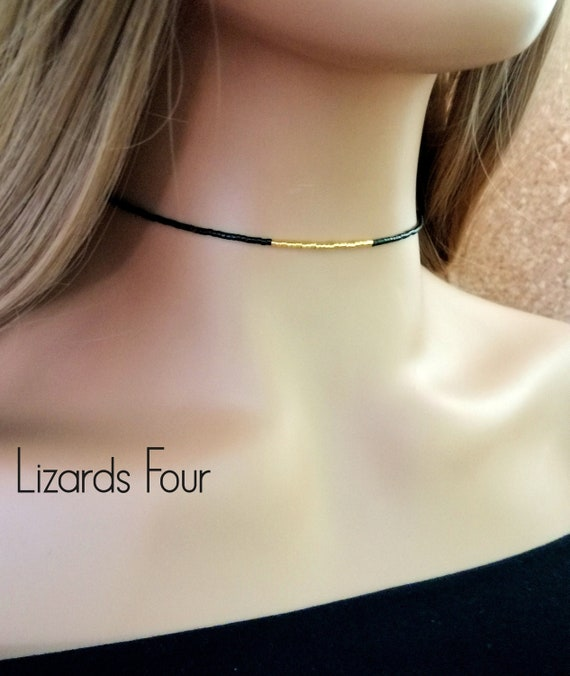 mix and match necklace small jewelry beaded choker minimal necklaces golden bead necklace minimalistic boho necklace adjustable choker