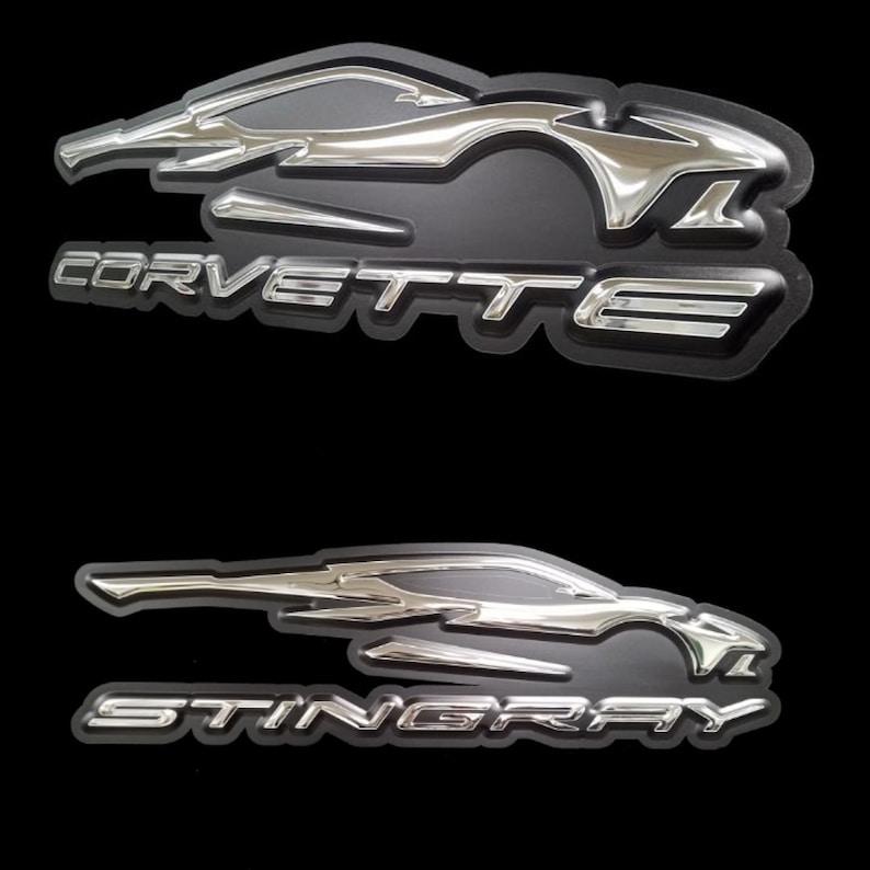 Corvette Stingray C-8 Gesture Official Badge wall art Glass Art ...