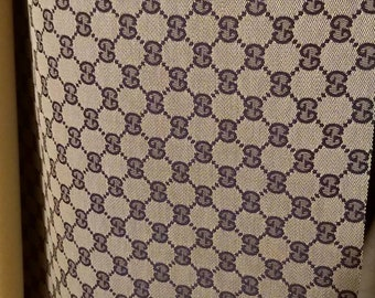 d727f477 Gucci stoffa GG from factory fabric made in Italy blue & grey by the yard  DIY arts