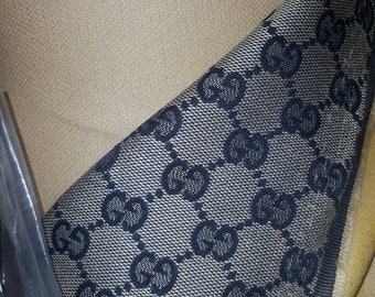 46c3faa3455 Original stoffa Gucci GG from factory fabric made in Italy blue   grey by  the yard DIY arts