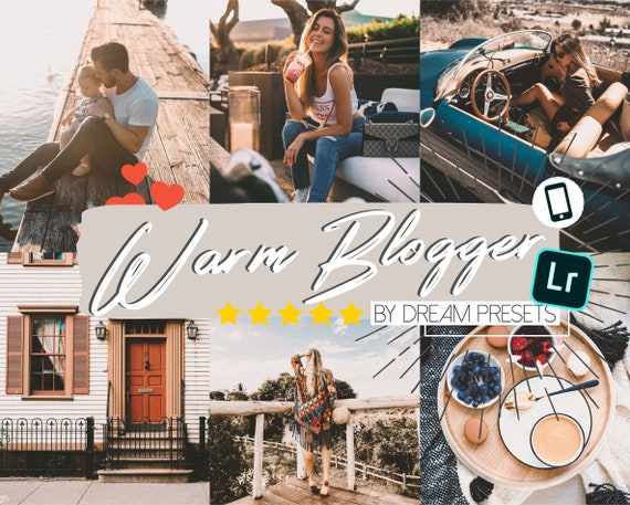 5 Blogger presets, Instagram presets, Lightroom mobile presets, Portrait  presets, Influencer presets, Lightroom presets