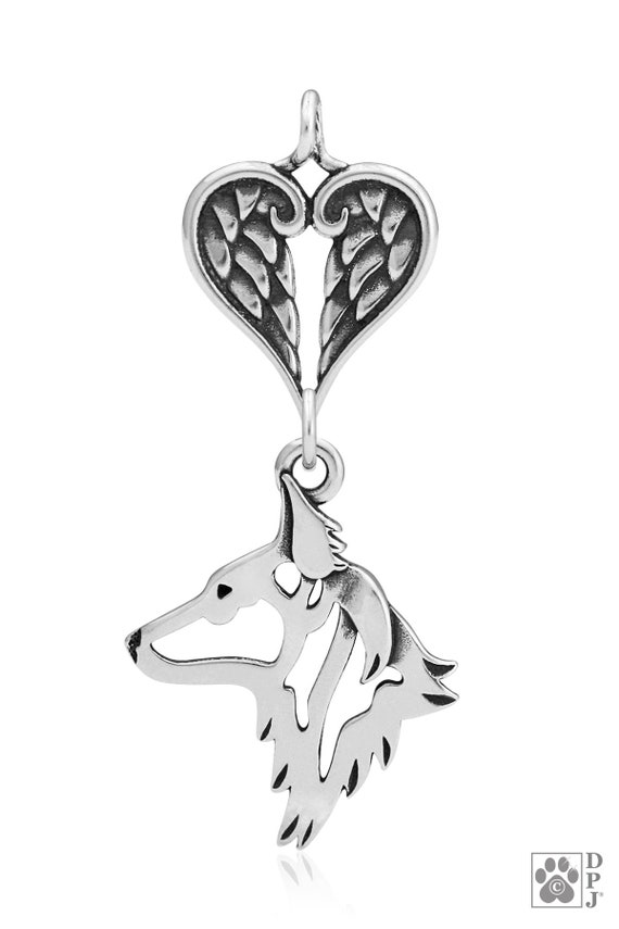 Long Haired Dutch Shepherd sterling silver pendant and necklace