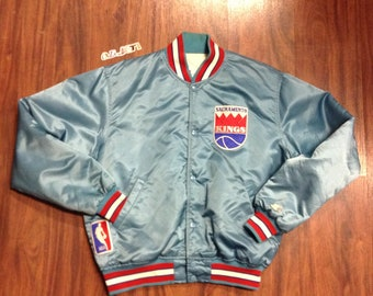 Sacramento kings starter satin jacket size xl rare nba vinatge throwback  california mens button up 1980s vtg 253efcdc8