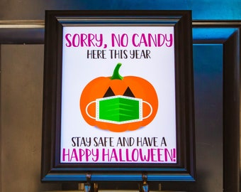 Halloween Sorry No Candy Sign