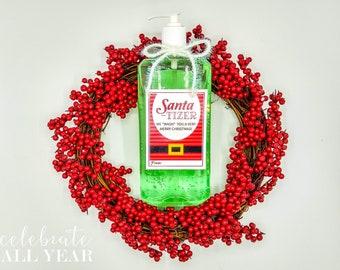 Christmas Hand Santa-tizer Gift Tags
